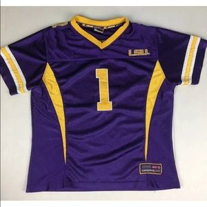 COLOSSEUM ATHLETIC FOOTBALL JERSEY LSU TIGERS EUC